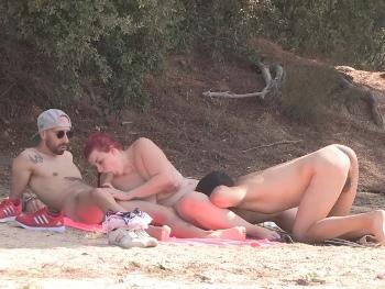 Trío liberal en el pantano de San Juan. A María no le vale con una sola polla. La pareja que te gustaría encontrarte.